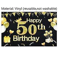 バナー 幸せな誕生日の背景バナーゴールドの風船のサインベビーシャワーの看板30/40/50/60歳の誕生日パーティーの装飾写真の背景 (Color : ZX006B07-1PCS)