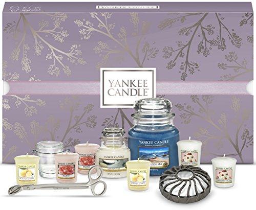 YANKEE CANDLE Confezione Regalo Natalizia con Candele Profumate e Accessori, Turquoise Sky, Set da 11 Pezzi