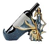 Titular de la concha Señora del vino Botella linda del estante...