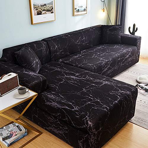 WXQY Funda de sofá en Forma de L para Sala de Estar, Funda de sofá, sofá seccional elástica, Funda de sofá antiincrustante con Todo Incluido, A15, 3 plazas
