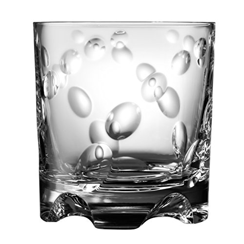 Shtox Tumbler Kristallglas mit rotierendem Muster, perfekt für Whiskey, Scotch, Bourbon, 320 ml