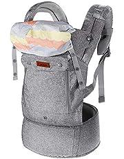 Lictin Bärsele ergonomisk bärsele 3,5–15 kg bärsele för baby 4–48 månader 3 bärpositioner med CE-certifiering