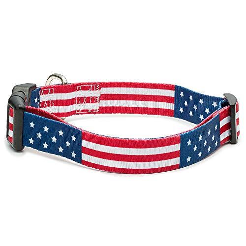 American Flag Dog Collar in 5 Different Sizes Classic (Medium)
