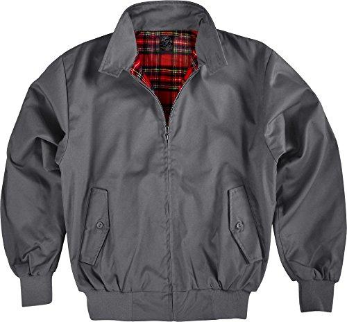 GearUp Original Harrington Jacke English Style in 12 verschiedenen Designs wählbar Farbe Anthrazit Größe 4XL