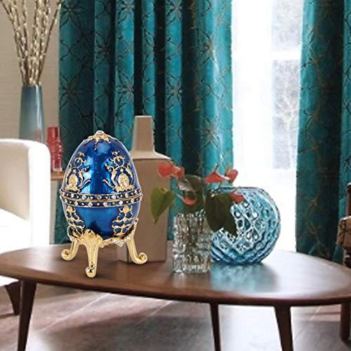 SHYEKYO Joyero Artesanías de Metal, Diamantes Brillantes Pintados con Esmalte para colección, decoración del hogar, Adornos, Gran Regalo para Guardar Joyas pequeñas