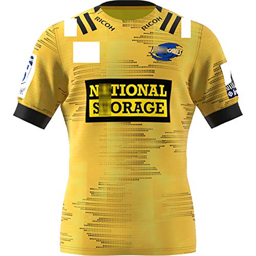 Hurricanes 2020 Gastgeber Rugby-Trikot Gelbe Rugby-Kleidung Herren Damen Kinder Rugby T-Shirt Limited Jersey für Jungen Geburtstagsgeschenk-M