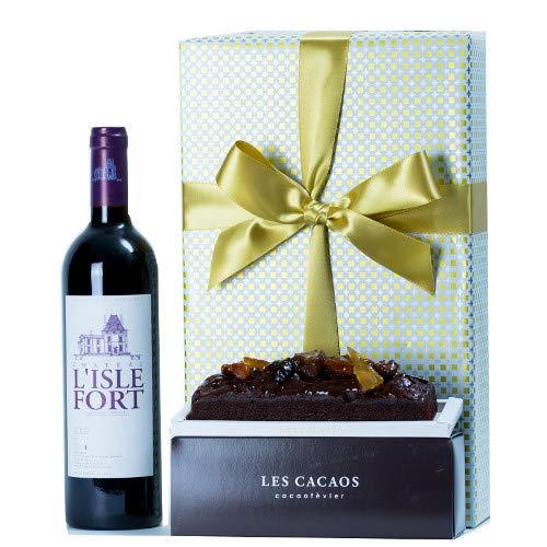 お祝い 結婚祝い 結婚記念日 誕生日【ワインとスイーツのギフトセット】フランス産 赤ワイン シャトー・リスル・フォール 750ml /ドライフルーツのチョコレートケーキ【ギフト】贈答用 贈り物 プレゼント