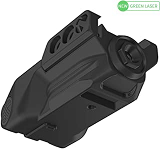 Laspur Sub Compact Tactical Rail Mount Low Profile Green Laser Sight, Build-in Rechargeable Battery for Pistol Rifle Handgun Gun