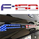F150 Tailgate Letters 3M Adhesive & 3D Raised Tailgate Decal LettersTailgate Emblems Inserts Letters (American Flag)