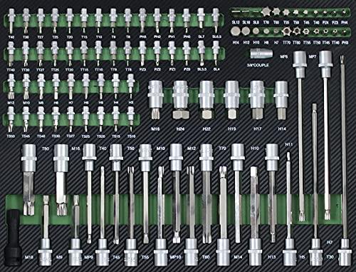 TrutzHolm® Werkstattwagen Premium XXL bestückt Profi-Werkzeug aus Chrom-Vanadium 7 Schubladen und ein Seitenfach gefüllt Assistent Werkzeugwagen - 5