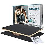 Fit for Fun Plankpad PRO, interaktiver Ganzkörper-Trainer, mit passender App für Spiele & Workouts, Balanceboard aus Holz, Fitnessgerät/Hometrainer für Frauen & Männer