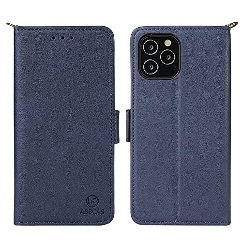 ZLXW Compatible con iPhone 12 / Pro/ProMax/Mini Funda para Teléfono, Hermosa Funda De Cuero para Teléfono (iPhone12mini,Azul)