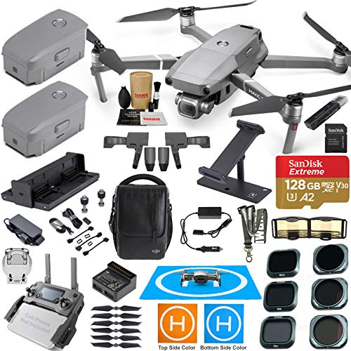 DJI Mavic 2 Pro Drone Quadcopter Fly More Kit Combo 3 Batteries, Hasselblad Camera Gimbal Bundle