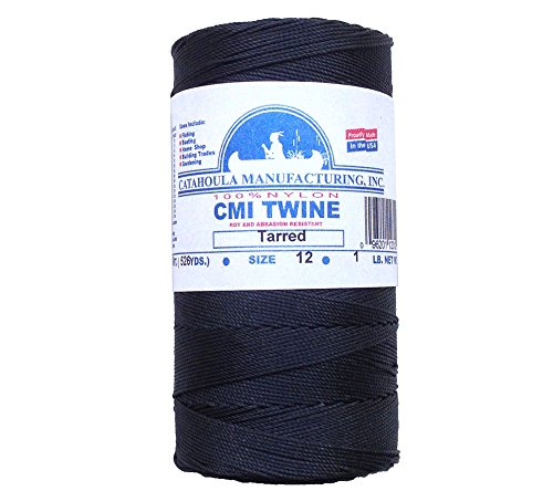 Catahoula Manufacturing no. 12 Tarred Twisted Bank Line, 1 Pound Spool (Approx. 1580 feet)