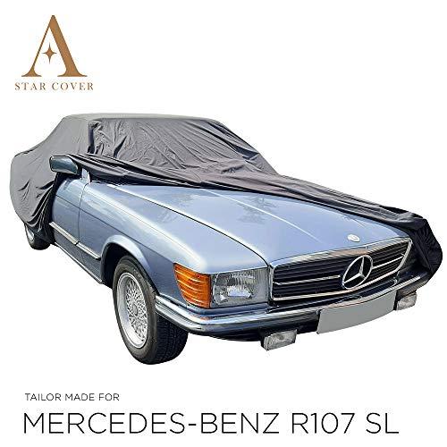 AUTOABDECKUNG SCHWARZ PASSEND FÜR Mercedes-Benz R107 SL WASSERDICHT AUSSEN VOLLGARAGE IM FREIEN Cover SCHUTZDECKE