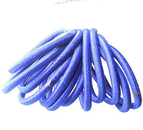 Lot de 12 élastiques épais pour cheveux Bleu roi