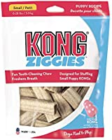 KONG - Ziggies - Teeth Cleaning Dog Treats (Best Used with KONG Classic Rubber Toys) - Puppy Flavour - for Small Dogs