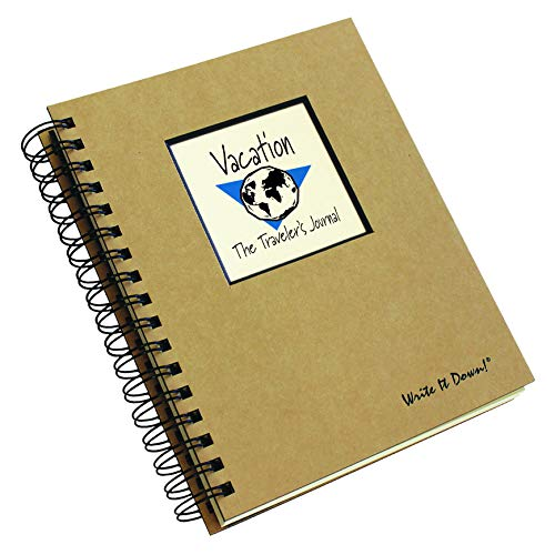 """Journals Unlimited """"Write it Down!"""" Series Guided Journal, Vacation, The Traveler's Journal (Globe), with a Kraft Hard Cover, Made of Recycled Materials, 7.5�x9� Photo #8"""