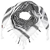 Shemagh Tactical Scarf Men - 100% Cotton...