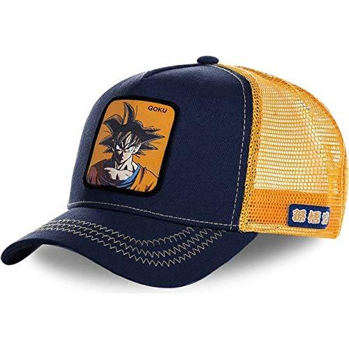 Sombrero de Malla Gorra de bisbol Sombrero de Camionero de ala Gorras Casquette-Goku-54cm-62cm
