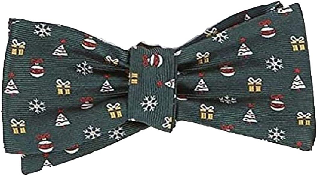 Cremieux Triani Motif Christmas Tree Silk Bow Tie, Green