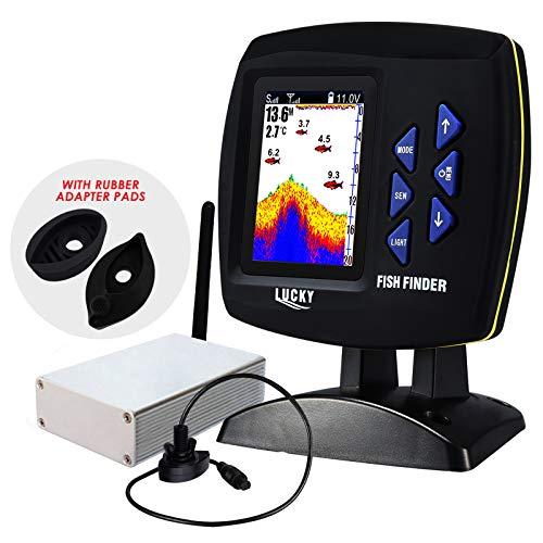 LUCKY draadloze vis Finder 328ft (100m) diepte aanbod, 300m / 984ft bedrijf aanbod remote control boot viszoeker gekleurde monitor