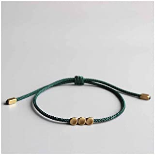 Hynsin Handmade Bead Bracelet Wax Thread Geometric Charm Bracelets /& Bangles for Women Men Seed Beads Bracelets