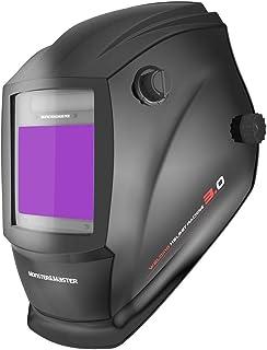 Monster&Master Large Viewing Screen Auto Darkening Welding Helmet, 4 Arc Sensor Wide Shade, MM-WH-001