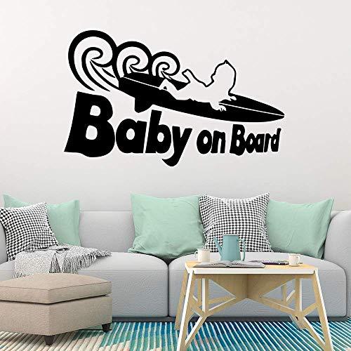 Baby Skateboard Muurstickers Dierlijke Liefhebber Woondecoratie Accessoires voor Woonkamer Bedrijf Kantoordecoratie 42 * 67Cm