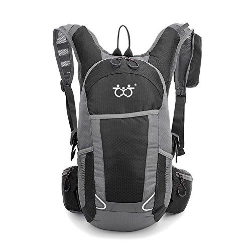 TXJ Wasserdichter Fahrradrucksack Herren Damen 25L Ultraleichte Wanderrucksäcke Outdoor Sportrucksack für Klettern Camping Reiten Reisen Laufsport, 45 x 25 x 20 cm, 25L (Schwarz)