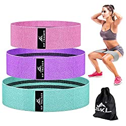 Resistance Hip Bands, Fitness Bands Set Booty Bands, Yogurt in 3 Tensile Strengths Training Band Yoga band as resistance and support for leg training, strength training and pull-ups