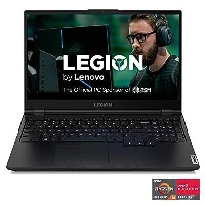 "Lenovo Legion 5 Gaming Laptop, 15.6"" FHD (1920x1080) IPS Screen, AMD Ryzen 7 4800H Processor, 16GB DDR4, 512GB SSD, NVIDIA GTX 1660Ti, Windows 10, 82B1000AUS, Phantom Black"