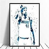 taoyuemaoyi Dirk Nowitzki Basketball Star Sport Leinwand