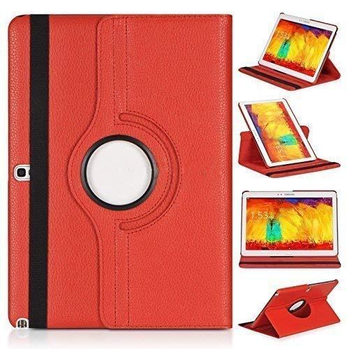 Rotar para Samsung Galaxy Tab S 21,34 cm SM-T700 T705 y 26,67 cm SM-T800 T805 360 Degree tipo piel rojo rosso for Samsung Galaxy Tab S 10.5' T800