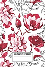 Notebook: Red Magnolia , Journal for Writing, Size 6