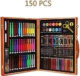 Pinturas Proveedores de arte para los niños Box 150 PCS lápiz, pincel, artículos de papelería, artículos de arte arte de aprender