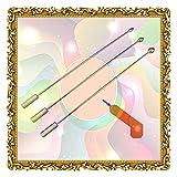 Agujas de metal delgadas con cabeza gruesa - Masajeador de artesanía fina superior para hombres, adecuado para jugadores principiantes y experimentados (paquete de 3)