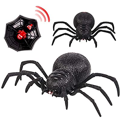 Fenleo Remote Control Spider Scary Wolf Spider Robot Realistic Novelty Prank Toys Gifts
