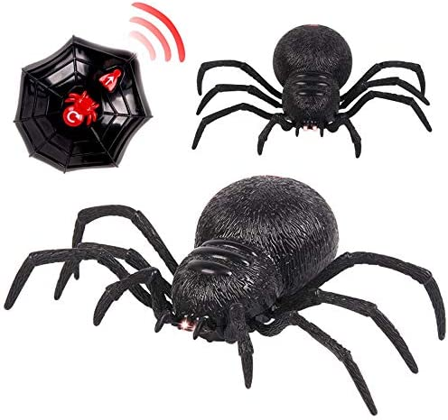 Fenleo Remote Control Spider Scary Wolf Spider Robot Realistic Novelty Prank Toys Gifts product image