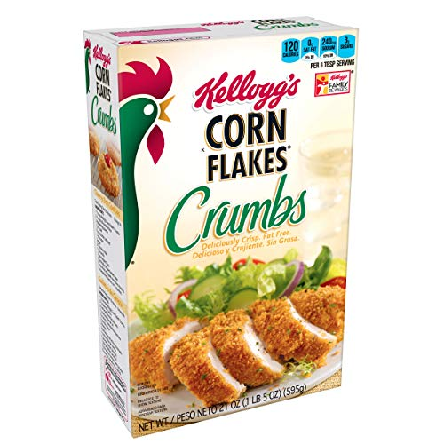 Kellogg's, Corn Flakes Crumbs, Fat-Free, 21 oz Box