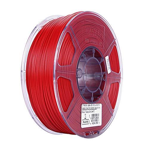 ABS + Filament 1,75 mm, 3D-Drucker Filament 1 kg, für Fdm-Drucker-Feuerrot