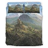 Wingard Leviosar Juego de cama de 4 piezas, diseño sin arrugas, color blanco, 240 x 264 cm