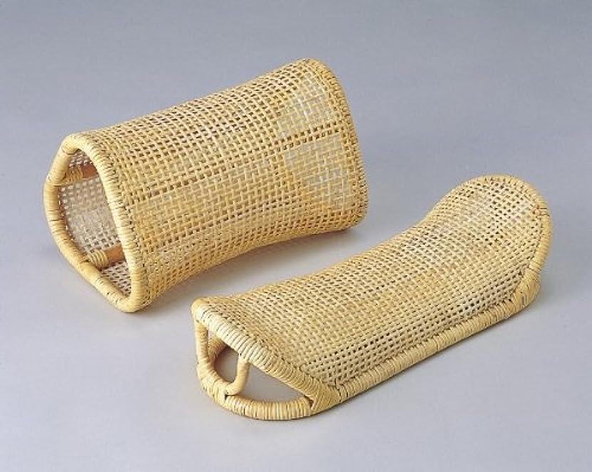 怒るさわやか雄弁籐表皮籐枕?足枕セット p-2309