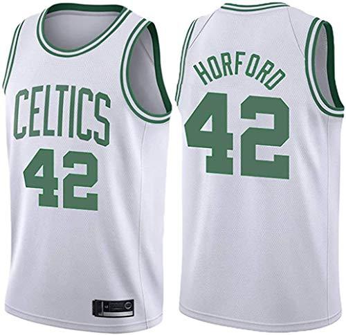 XSJY Ropa De Baloncesto para Hombres - Camiseta De Baloncesto De Verano NBA Celtics # 42 Al Horford Fan Edition Jersey Classic Bordado Sin Mangas Top,A,S:165~170cm/50~65kg