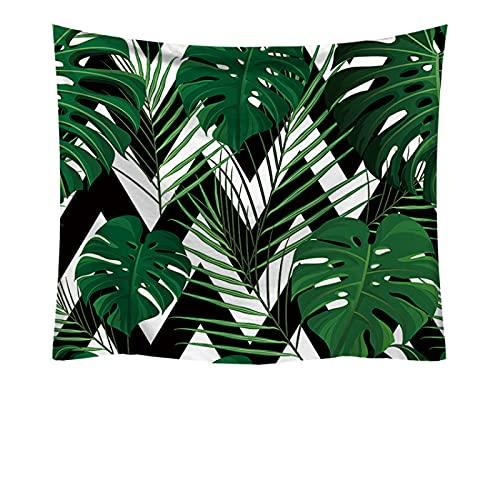 NHhuai Tapestry,Colgar en la Pared, Tela Colgante Tapiz Decorativo Verde Planta impresión