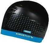 Arena W Smartcap Training, Cuffia Donna, Nero (Black/Turquoise), M...