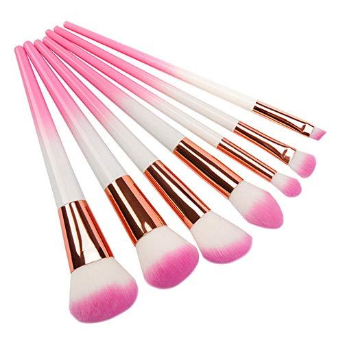 BABIFIS Brosses de Maquillage, 7 Portable dégradé de Rose Fibres synthétiques Brosse Douce Outils de Maquillage des Yeux débutants