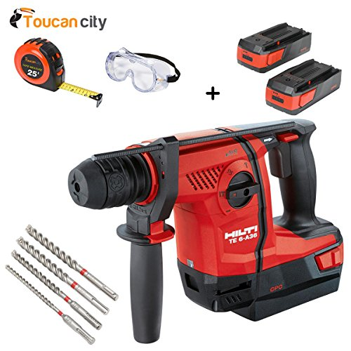 Lowest Price! Toucan City Tape Measure with Safety Goggles and Hilti 36-Voltt Lithium-Ion 1/2 in. SD...