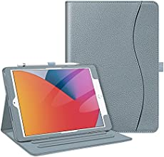 Fintie Case for New iPad 8th Gen (2020) / 7th Generation (2019) 10.2 Inch - [Corner Protection] Multi-Angle Viewing Folio Stand Cover with Pocket, Pencil Holder, Auto Wake/Sleep, Cloudy Blue