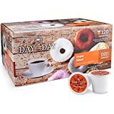 Day To Day Coffee 120 Count Donut Blend Single Serve Coffee Cups, Coffee K cups for Keurig, Box of 120 Count Donut Blend Medium Roast Coffee Pods